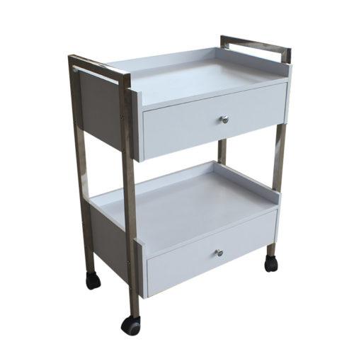 carrello per estetica e centri spa con due cassettiere bianco DP6004