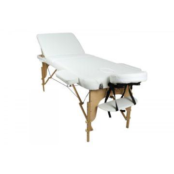 lettino new relax 65 bianco, struttura in legno