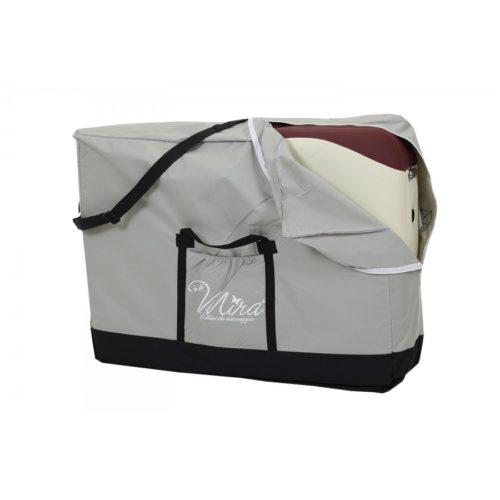 lettino naomi, chiuso, nel borsone da trasporto