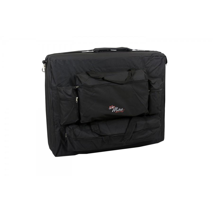 borsa porta lettini da massaggio, nera, con tasche laterali