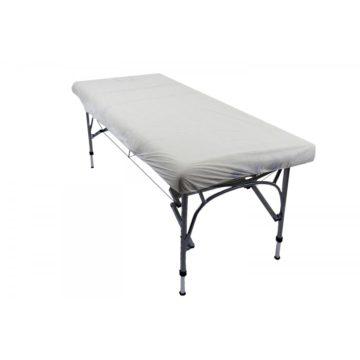 copri lettino in tnt, utilizzato su lettino da massaggio
