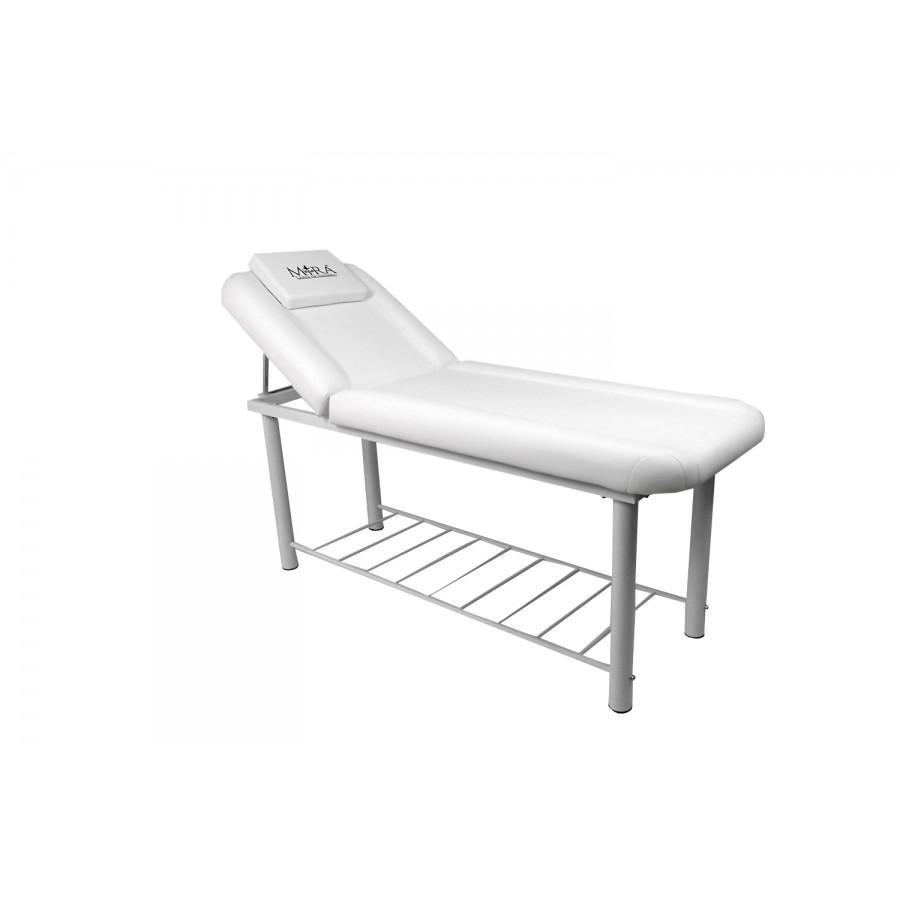 lettino da massaggio fisso, bianco, mod. onda di mira sas