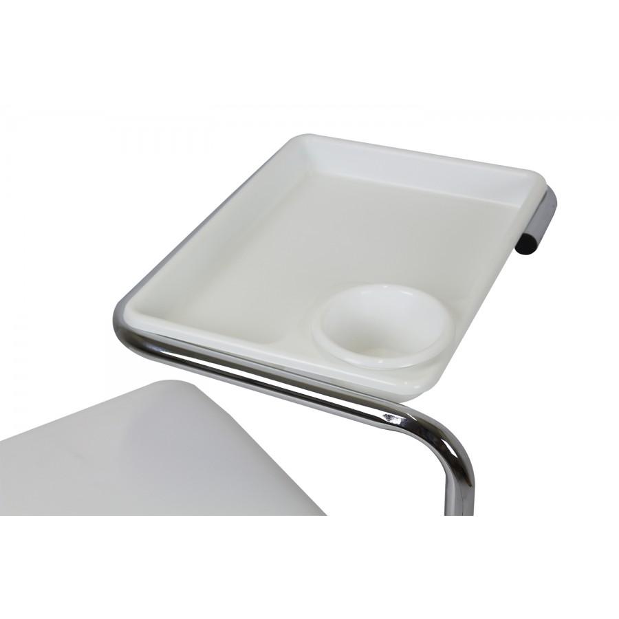 vassoio manicure del carrello con seduta e vassoi porta oggetti