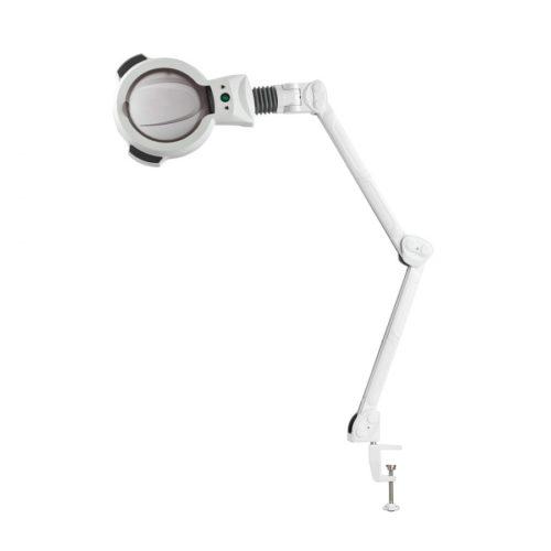 lampada da tavolo a 5 diottrie per lavori di precisione, con braccio snodabile