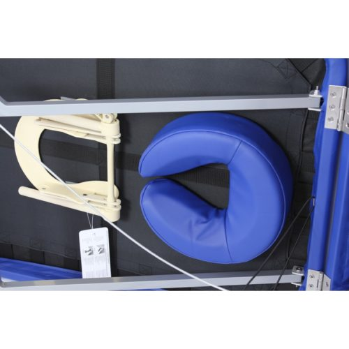 spazio sotto al lettino dove sistemare gli accessori, alula hedy alluminio