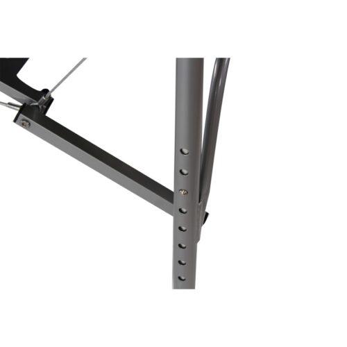 comodo sistema di regolazione altezza del lettino da massaggio in alluminio