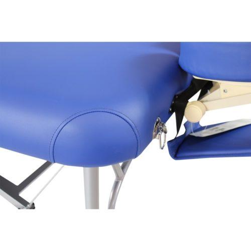 la struttura raffinata del lettino in alluminio alula hedy blu