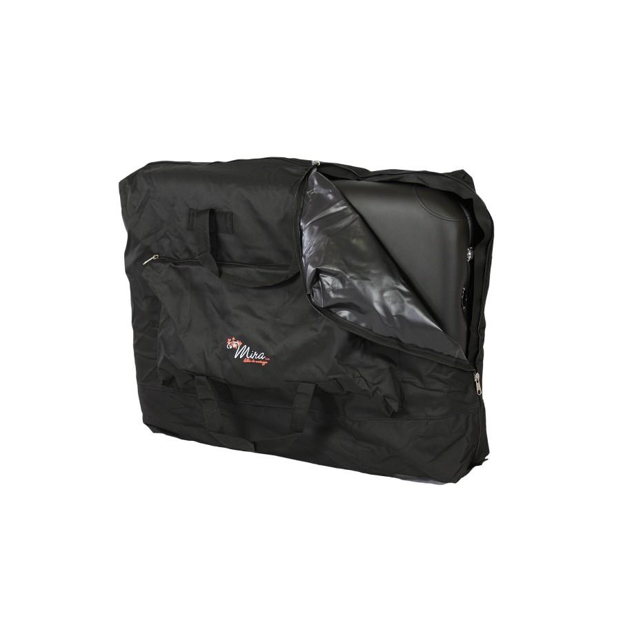 posizionamento del lettino pieghevole nella borsa da trasporto, alula hedy nero di mira sas