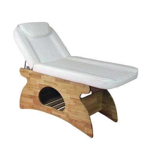 lettino da massaggio modello melissa, colore bianco su base in legno robusta