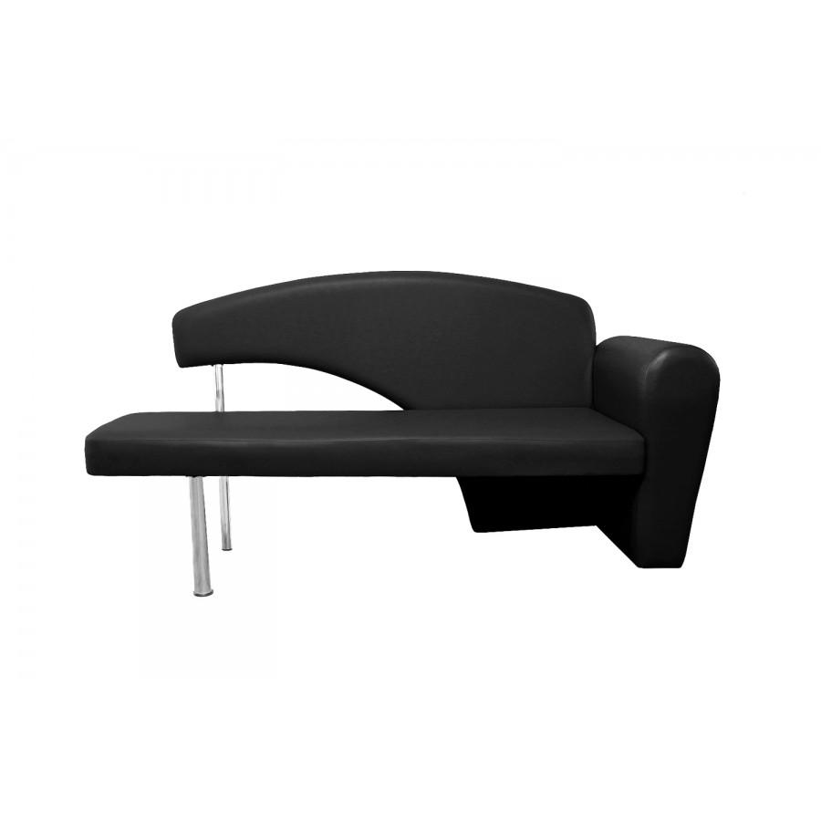 divano nero, design moderno, per sala d'attesa centri estetici e spa