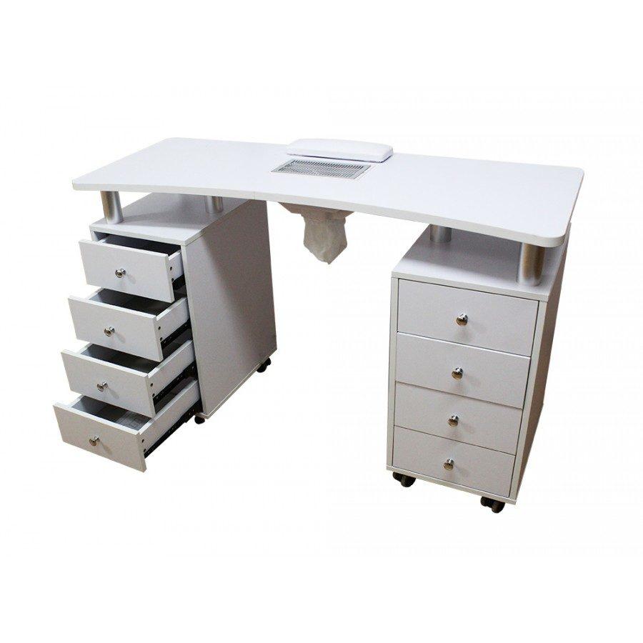 tavolo da manicure per centri estetici, con 2 cassettiere e aspira unghie