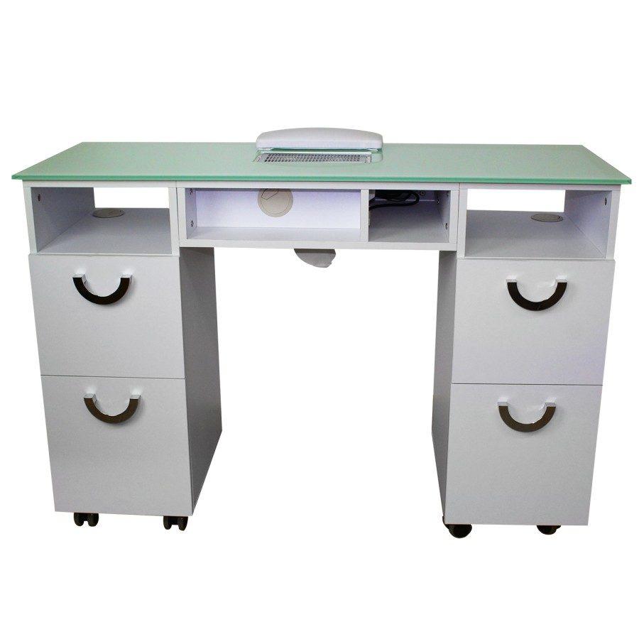 tavolo da manicure dp 78, con aspiratore, 2 cassettiere con 4 cassettoni