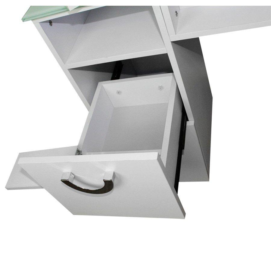 cassetto con porta lozioni estraibile del tavolo da manicure dp 78