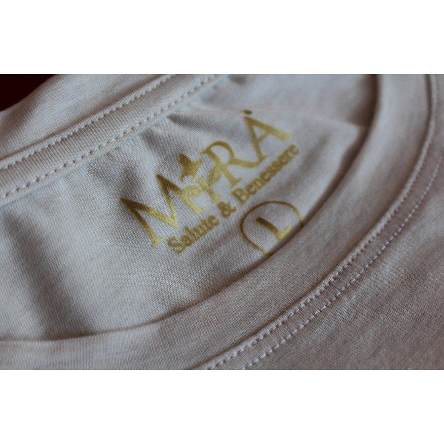 maglietta grigia in fibra d'argento e nanotecnologia