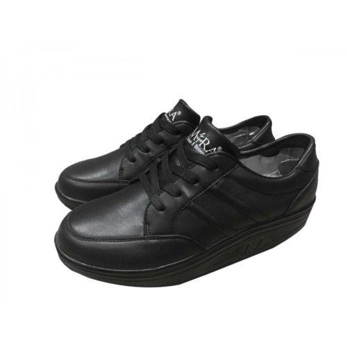 scarpe bioergonomiche nere, in pelle