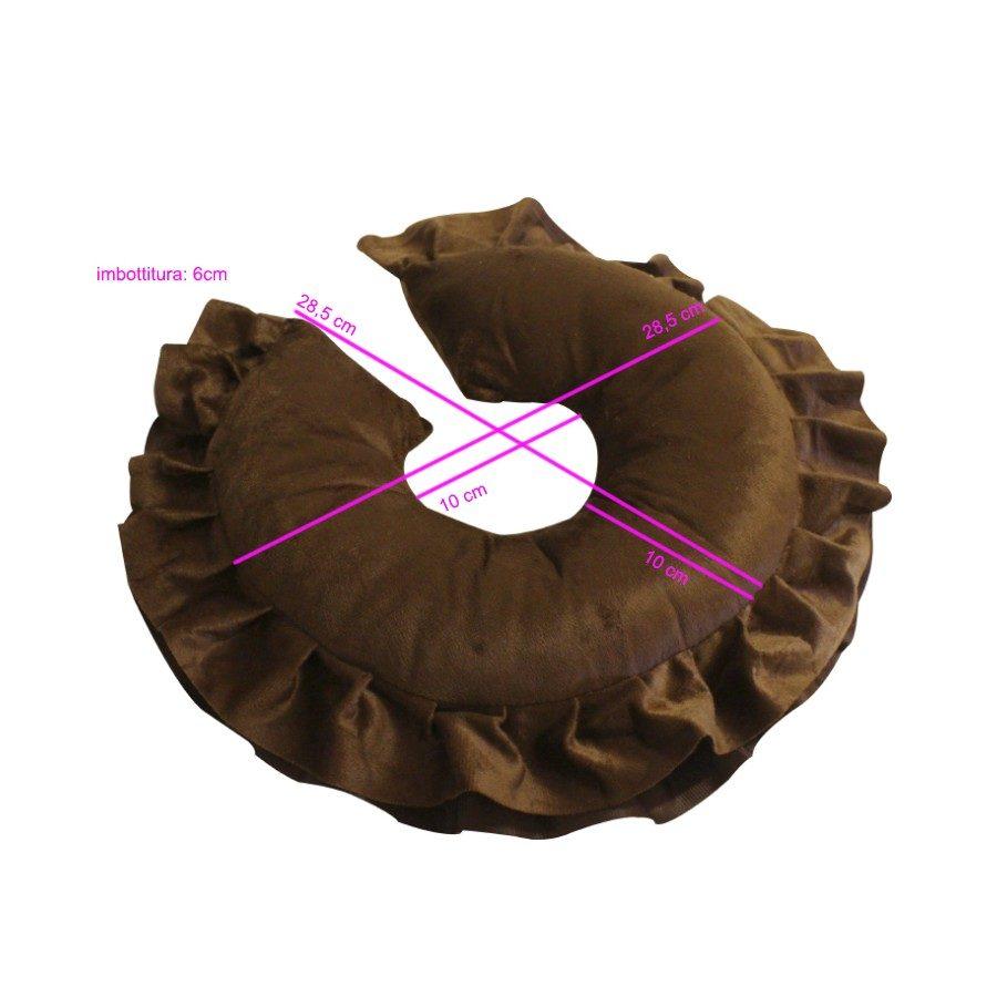 tutte le misure del cuscino poggia viso per lettino da massaggio e terapia