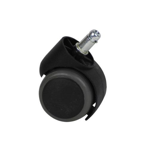 ruota girevole c3, in plastica dura, nera e grigia