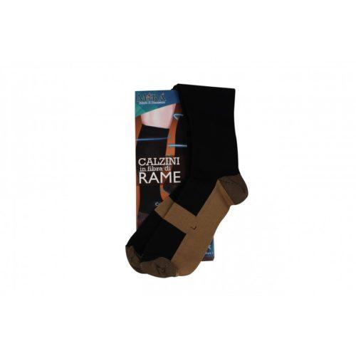 calzini in fibra di rame neri, mira