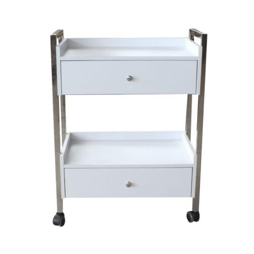 carrello per estetica e centri spa con due cassettiere, frontale