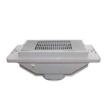 aspiratore per tavoli da manicure bianco con griglia argentata