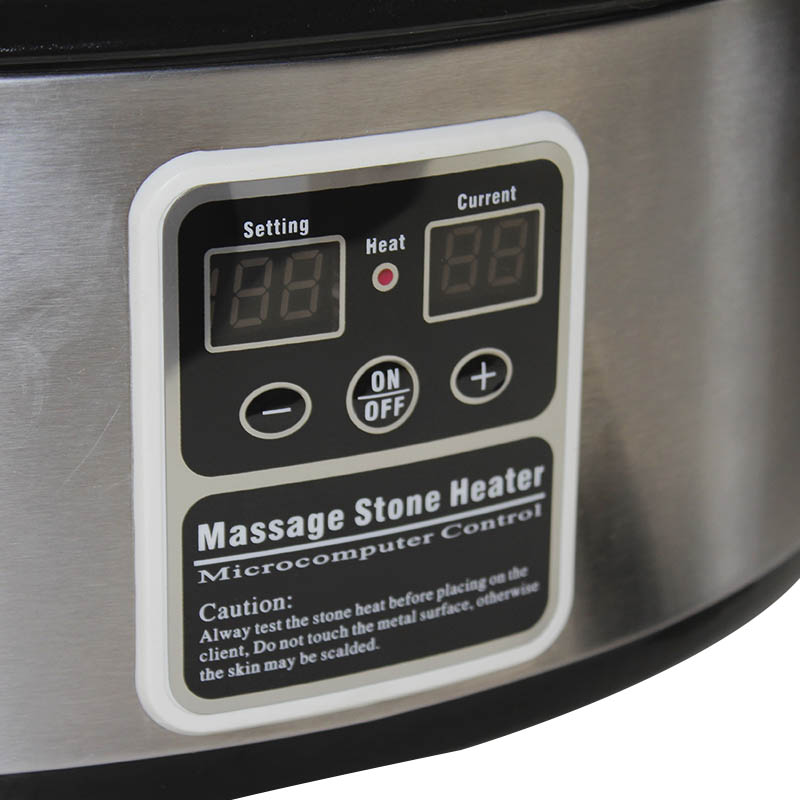 bollitore pietre da massaggio 8lt, particolare, acciaio