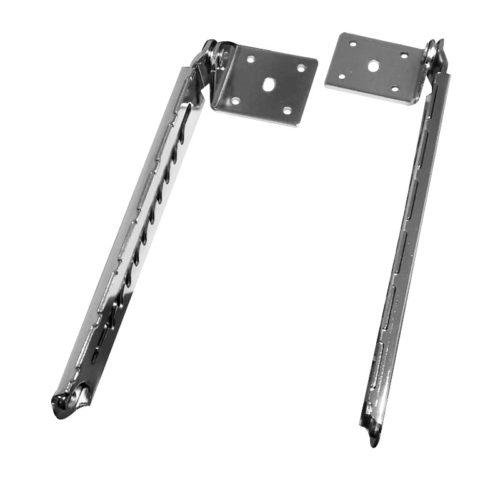 coppia di cerniere per alzata schienale dei lettini da massaggio regolabili in acciaio