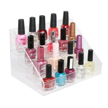 espositore per smalti colorati e gel per unghie, acrilico trasparente, manicure e pedicure