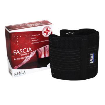 fascia lombare medicale, dolori alla schiena, tessuto nero, elastica