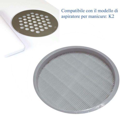 filtro aspiratore manicure k2, per tavoli da manicure ed estetica