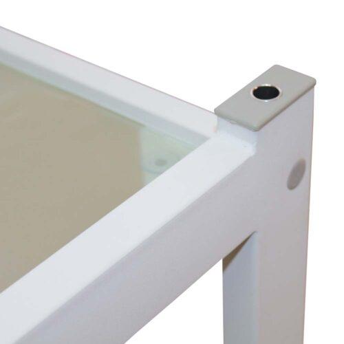 zoom su foro per lampada da tavolo, ad incastro, sul carrello da estetica