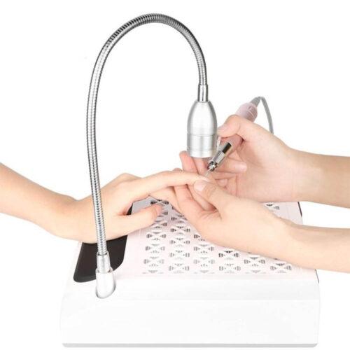 fresa nail art 2 in 1 con aspiratore e lampada, utilizzo per mani e unghie