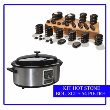 kit 54 pietre da massaggio più bollitore da 8 lt