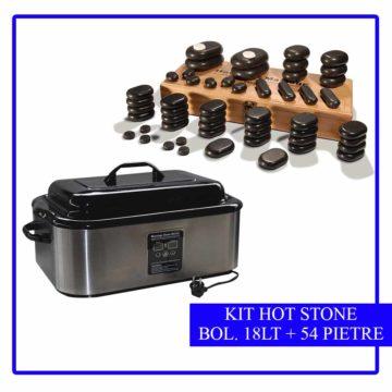 kit 54 pietre da massaggio più bollitore da 18 lt