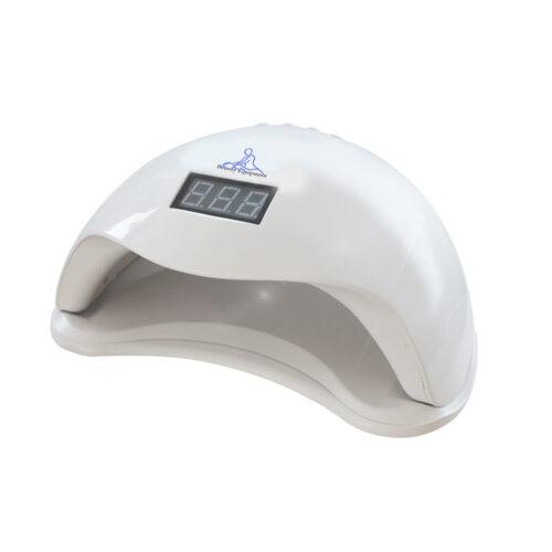 lamdada a led mira professionale per gel e unghie, con timer bianco, per centro estetico e manicure vista superiore a tre quarti