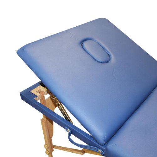 lettino clarissa alzata dello schienale, alzata regolabile colore blu
