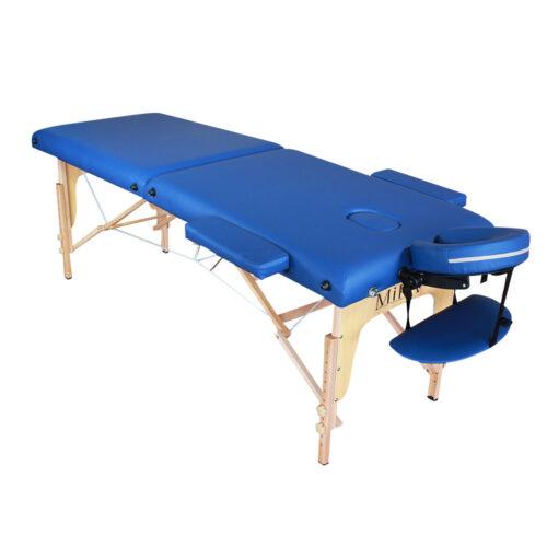 lettino massaggio portatile blu, leggero, modello ecolight
