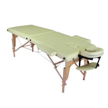 lettino massaggio pieghevole leggero, beige, modello ecolight