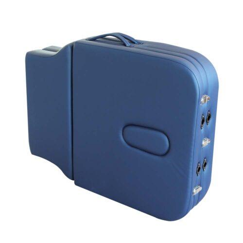 lettino da massaggio gabriel chiuso a valigia, color blu navy