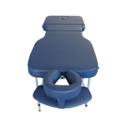 lettino gabriel vista frontale, alluminio, colore blu navy