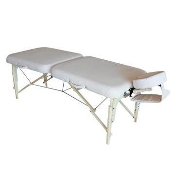lettino massaggio portatile leggerissimo ed elegante in legno, modello wayer deco