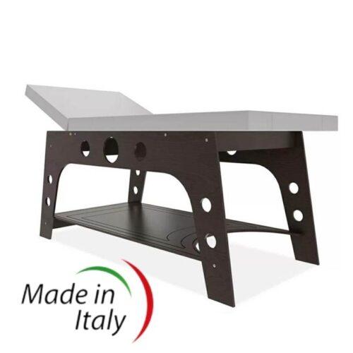 lettino da massaggio design moderno, in legno color noce