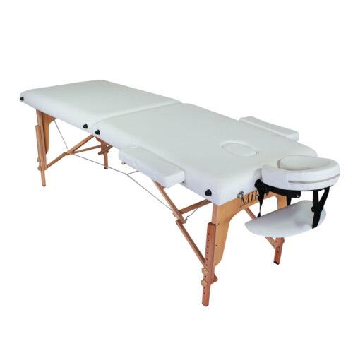 lettino massaggio portatile bianco, modello ecolight, richiudibile