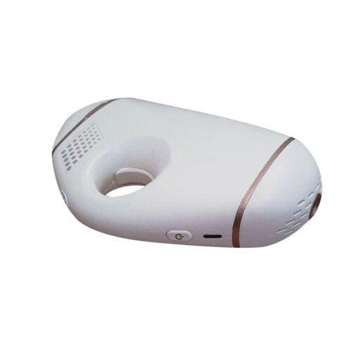 luce pulsata portatile e maneggevole, bianco con finiture in bronzo
