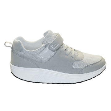 Scarpa ergonomica,tessuto bianco grigio