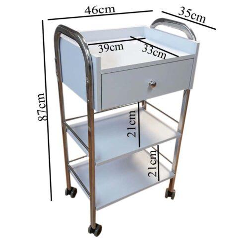 misure carrello, cassetto e vaschette ripiani