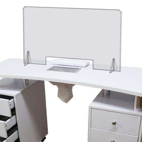 pannello plexiglass per tavolo da manicure