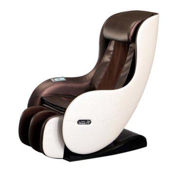 poltrona automassaggiante, shiatsu e pressoterapia, beige e marrone, design moderno