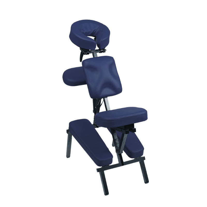 poltrona massaggi cervicale, blu petrolio,massaggio californiano, richiudibile