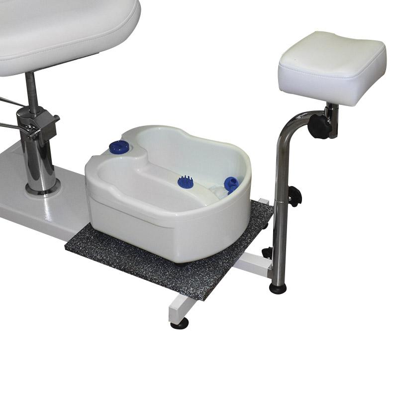 poltrona da pedicure, spa 100a, di colore bianco, regolabile in altezza, schienale reclinabile, particolare