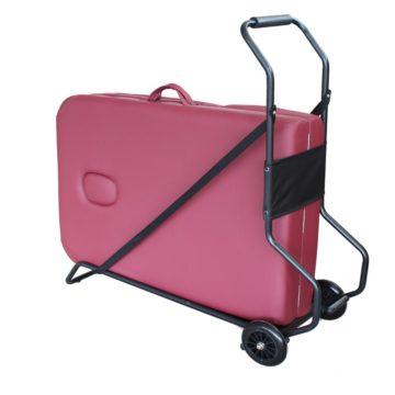 carrello per trasporto lettino da massaggio pieghevole
